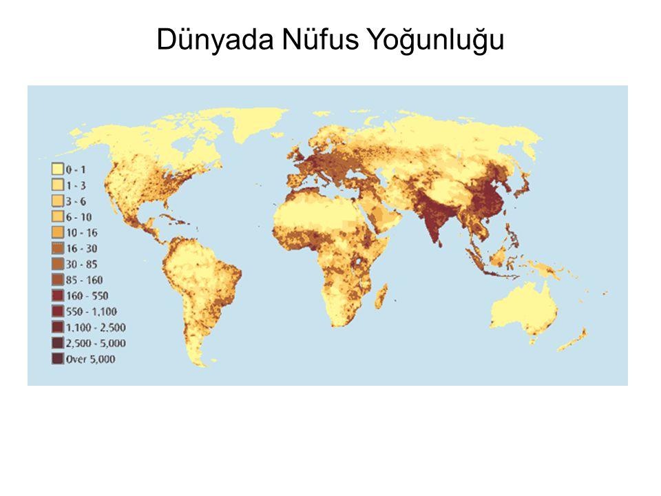 Dünyada Nüfus Yoğunluğu
