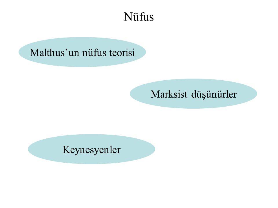 Malthus'un nüfus teorisi