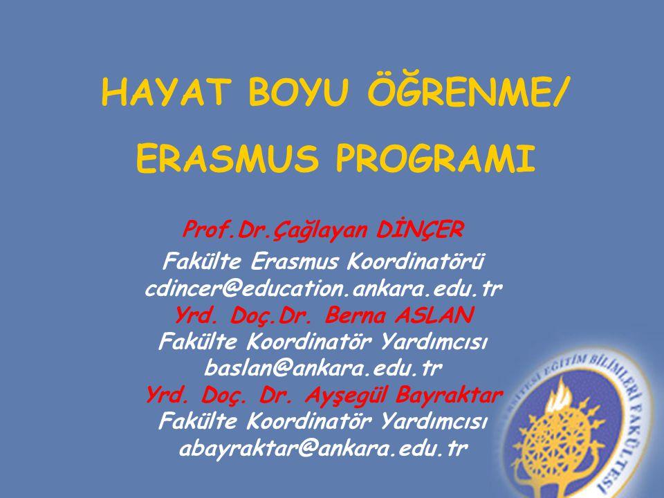 HAYAT BOYU ÖĞRENME/ ERASMUS PROGRAMI