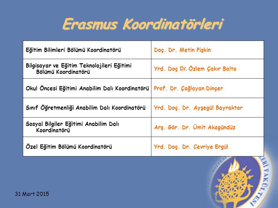 Erasmus Koordinatörleri