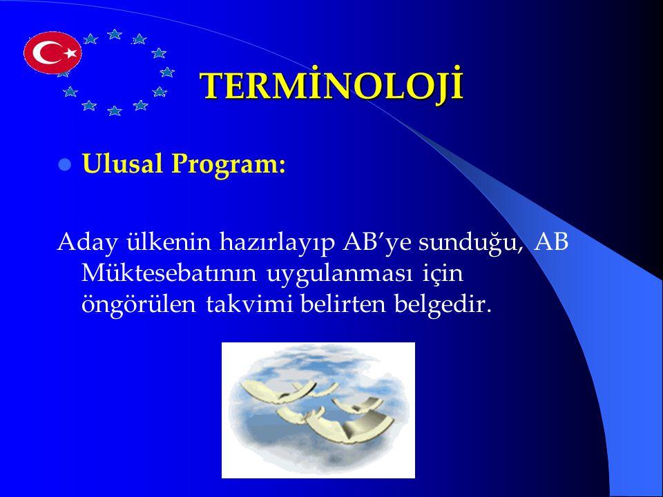 TERMİNOLOJİ Ulusal Program: