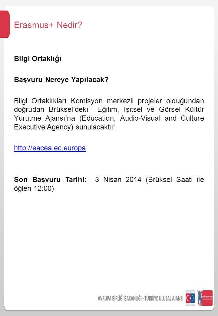 Erasmus+ Nedir Bilgi Ortaklığı Başvuru Nereye Yapılacak