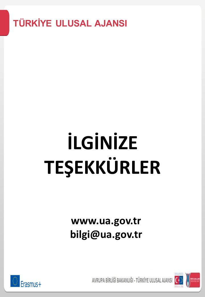 İLGİNİZE TEŞEKKÜRLER www.ua.gov.tr bilgi@ua.gov.tr