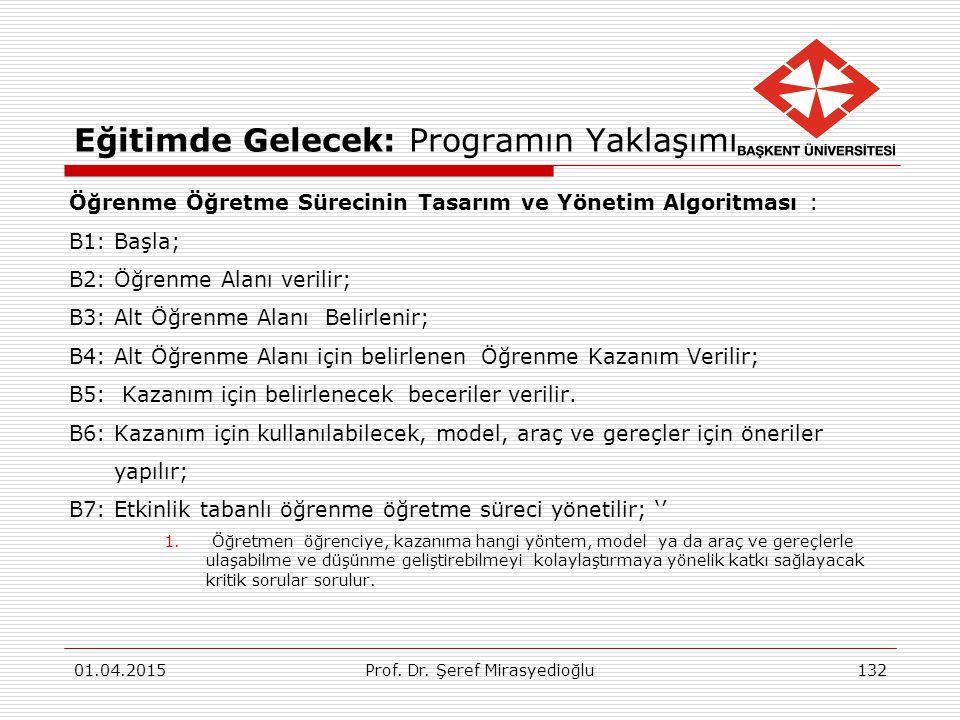 Eğitimde Gelecek: Programın Yaklaşımı