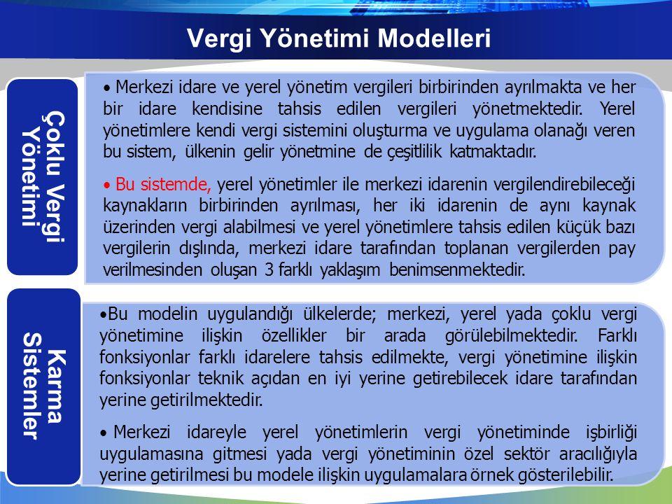Vergi Yönetimi Modelleri