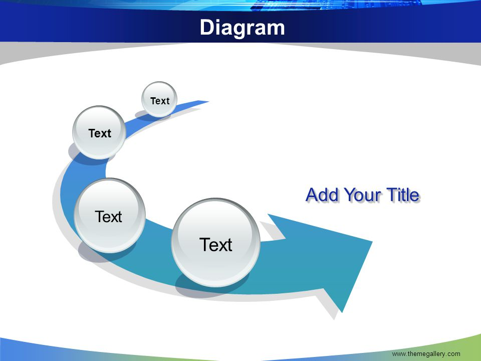 Diagram Text Text Text Add Your Title Text www.themegallery.com