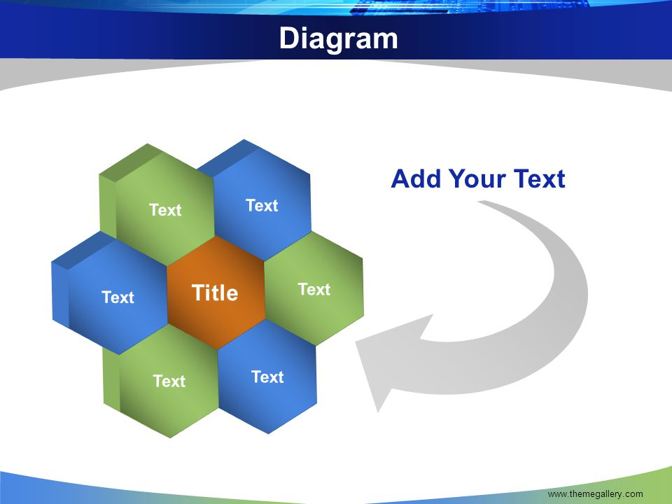 Diagram Text Title Add Your Text www.themegallery.com