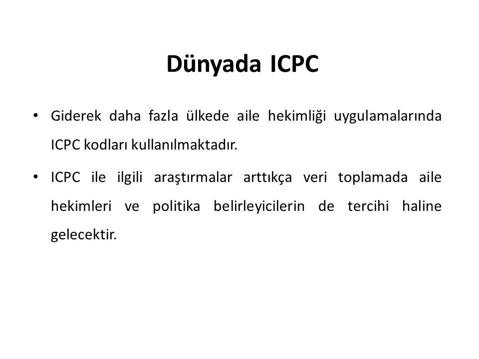 Dünyada ICPC Giderek daha fazla ülkede aile hekimliği uygulamalarında ICPC kodları kullanılmaktadır.