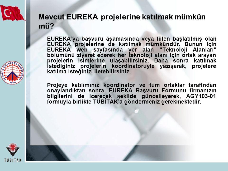 Mevcut EUREKA projelerine katılmak mümkün mü