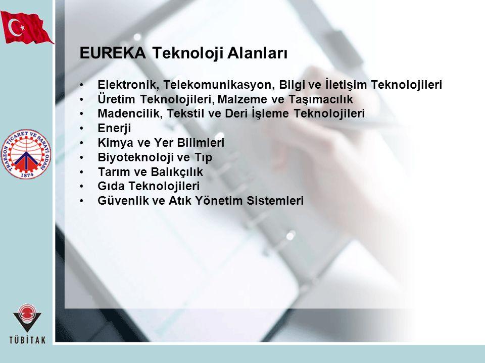 EUREKA Teknoloji Alanları