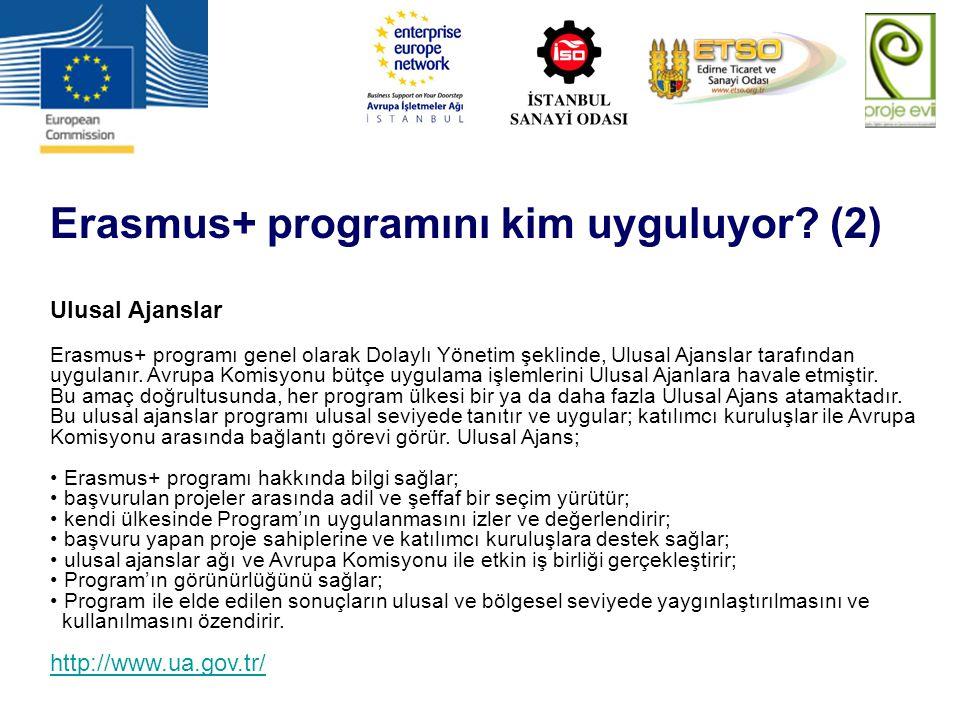 Erasmus+ programını kim uyguluyor (2)