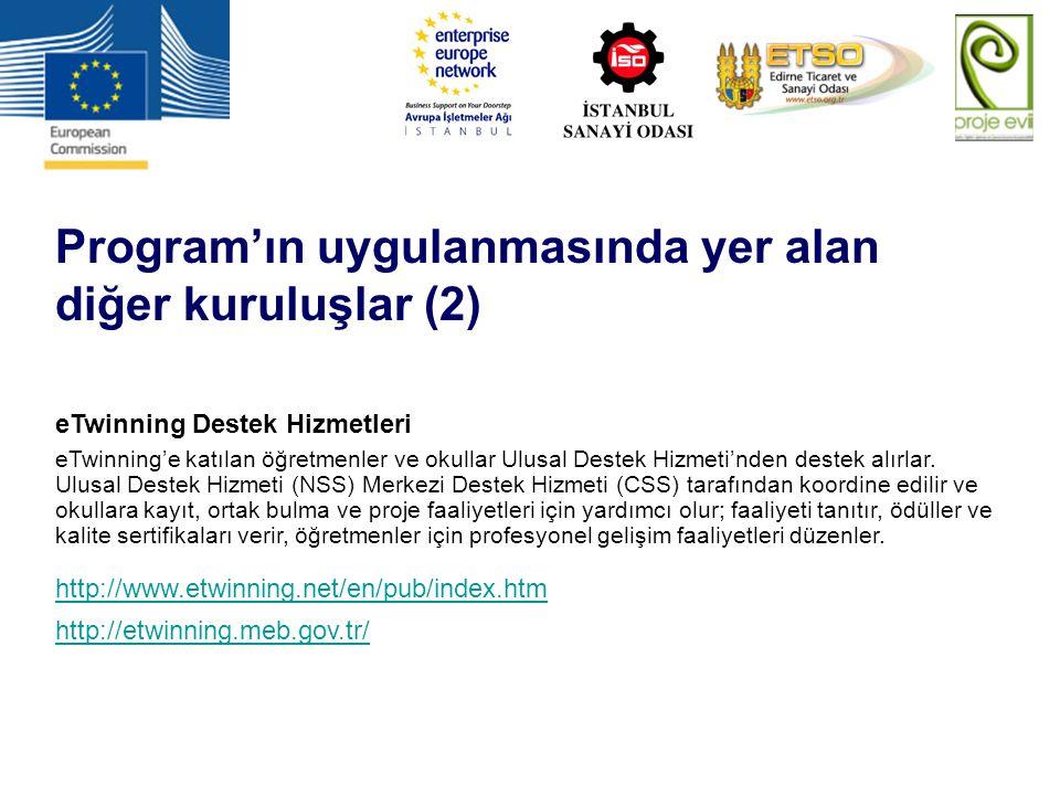 Program'ın uygulanmasında yer alan diğer kuruluşlar (2)