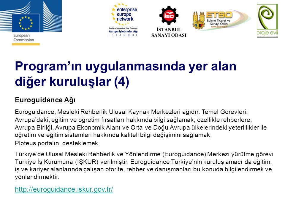 Program'ın uygulanmasında yer alan diğer kuruluşlar (4)