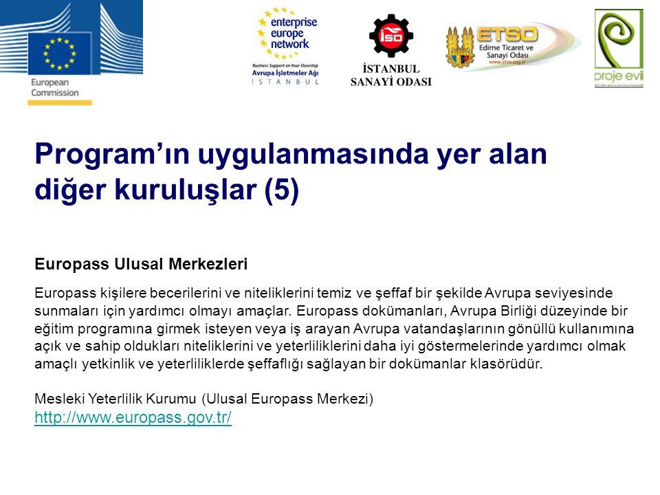 Program'ın uygulanmasında yer alan diğer kuruluşlar (5)