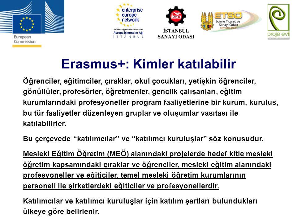 Erasmus+: Kimler katılabilir