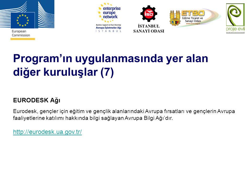 Program'ın uygulanmasında yer alan diğer kuruluşlar (7)