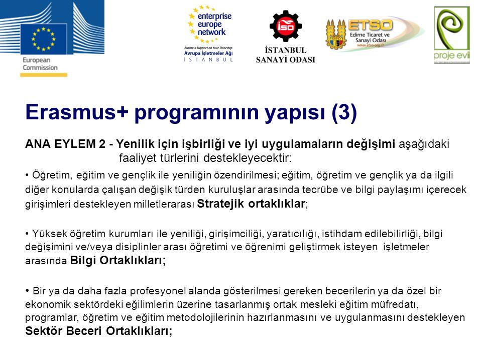 Erasmus+ programının yapısı (3)