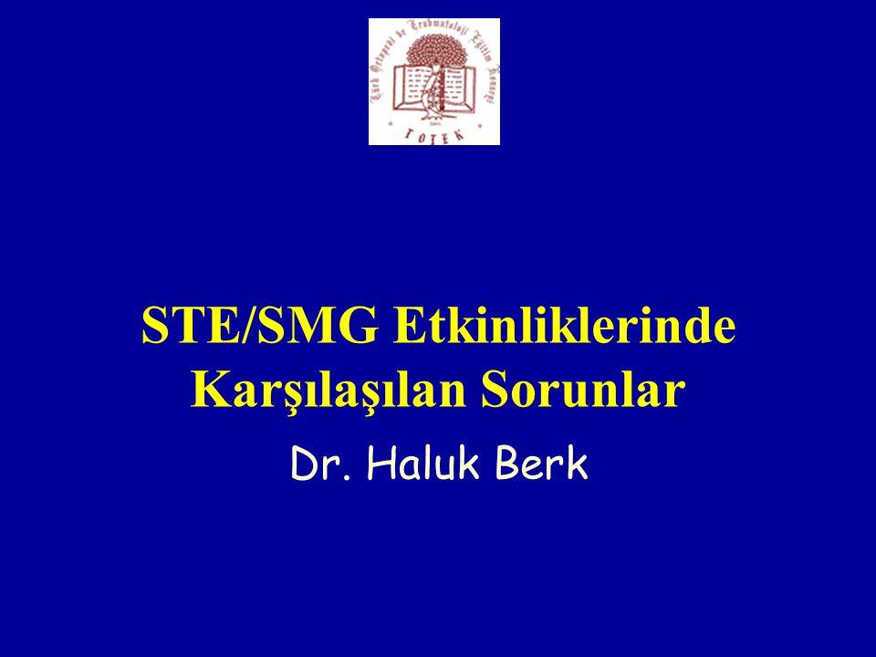 STE/SMG Etkinliklerinde Karşılaşılan Sorunlar