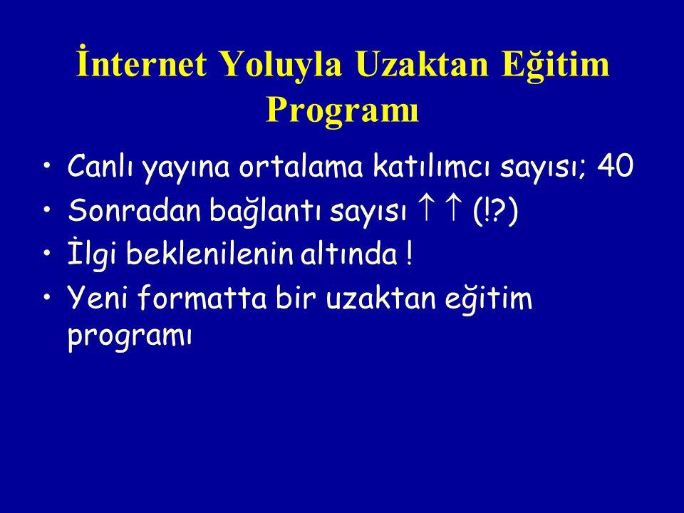 İnternet Yoluyla Uzaktan Eğitim Programı