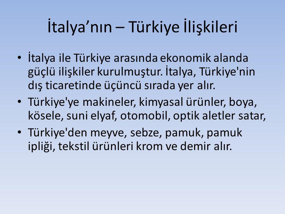 İtalya'nın – Türkiye İlişkileri