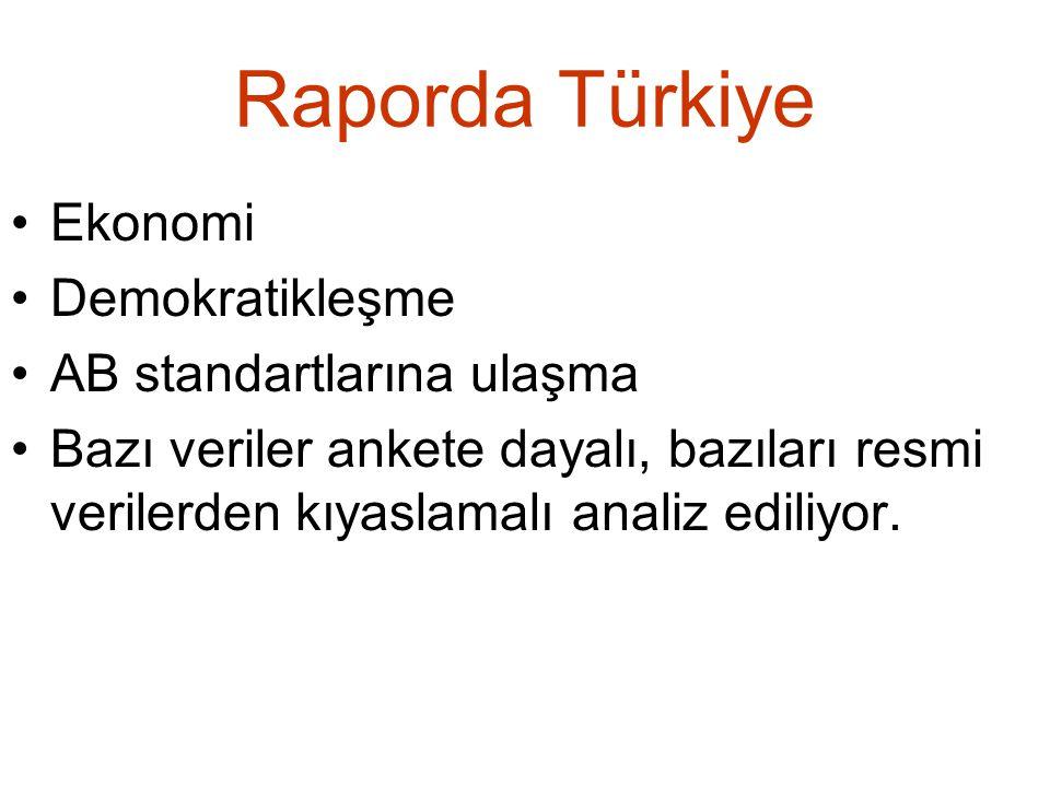 Raporda Türkiye Ekonomi Demokratikleşme AB standartlarına ulaşma