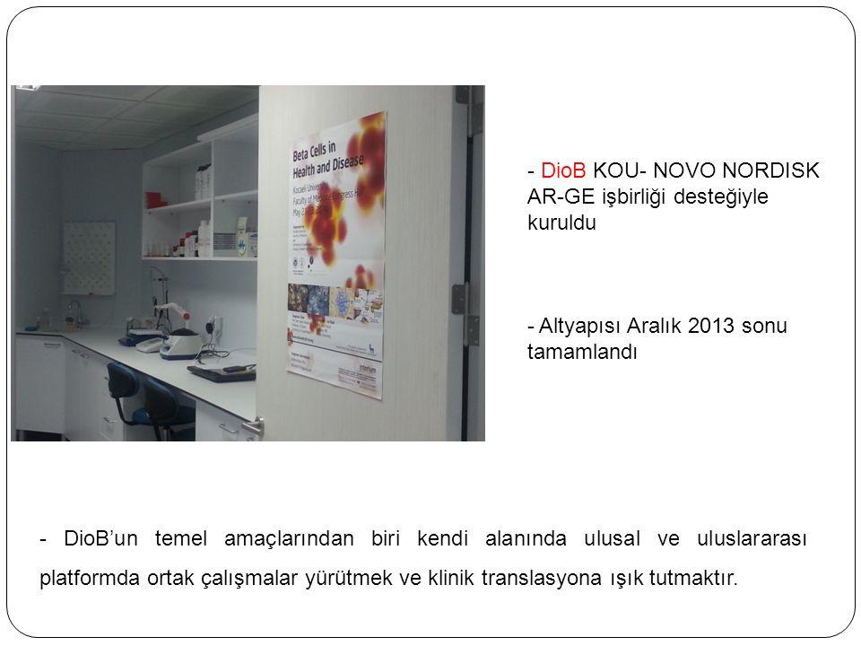 DioB KOU- NOVO NORDISK AR-GE işbirliği desteğiyle kuruldu
