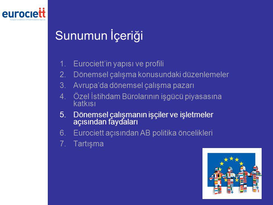 Sunumun İçeriği Eurociett'in yapısı ve profili