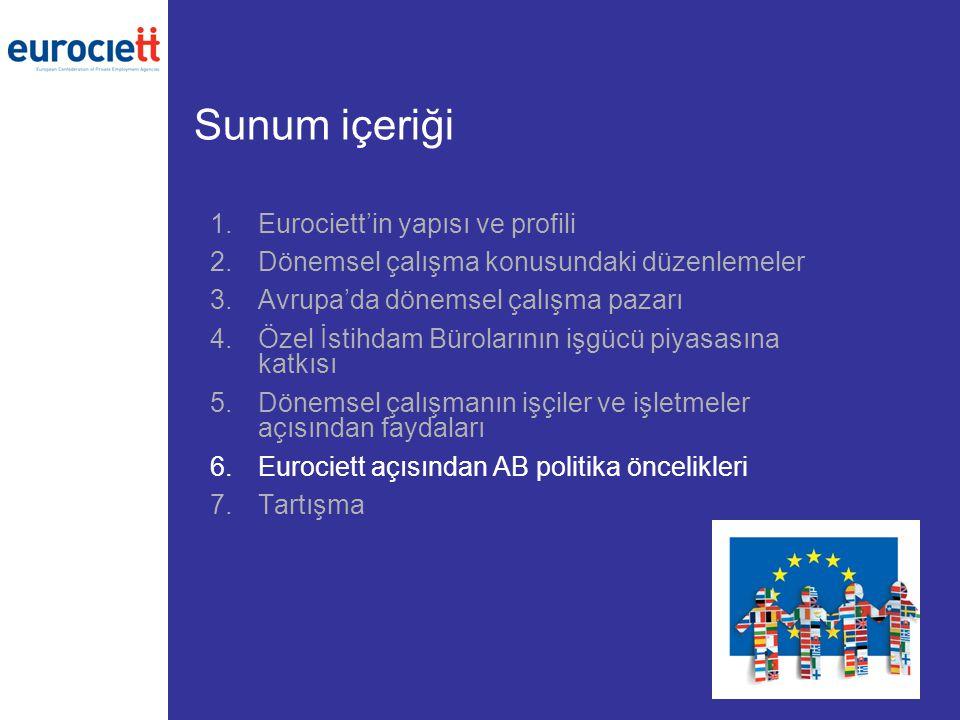 Sunum içeriği Eurociett'in yapısı ve profili