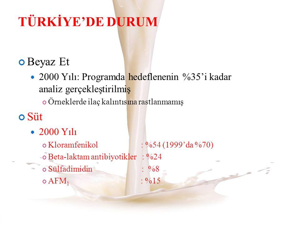 TÜRKİYE'DE DURUM Beyaz Et Süt