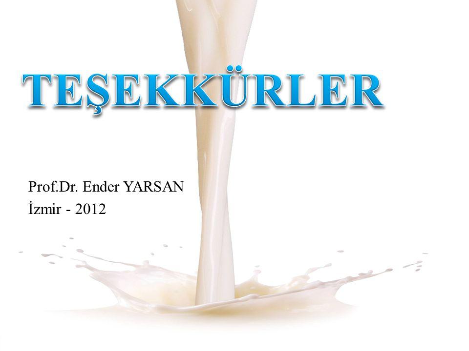 TEŞEKKÜRLER Prof.Dr. Ender YARSAN İzmir - 2012
