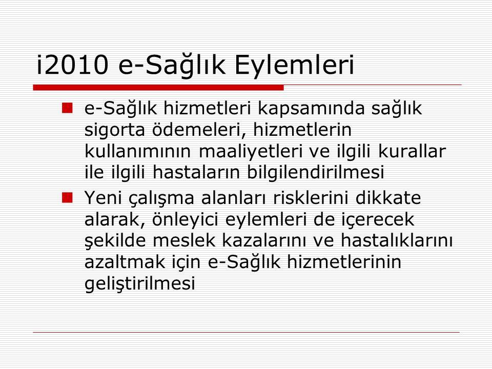 i2010 e-Sağlık Eylemleri