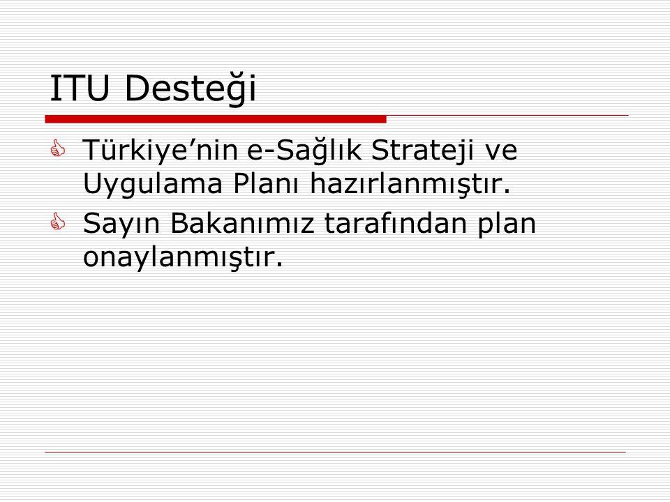 ITU Desteği Türkiye'nin e-Sağlık Strateji ve Uygulama Planı hazırlanmıştır.