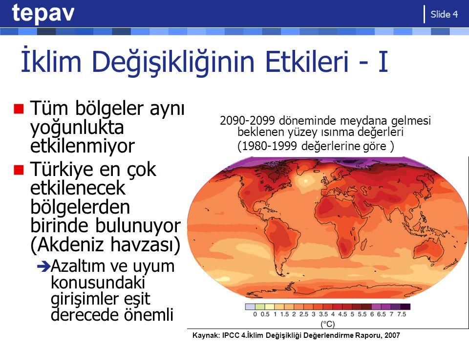 İklim Değişikliğinin Etkileri - I