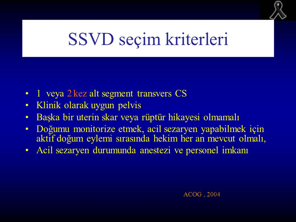 SSVD seçim kriterleri 1 kez alt segment transvers CS