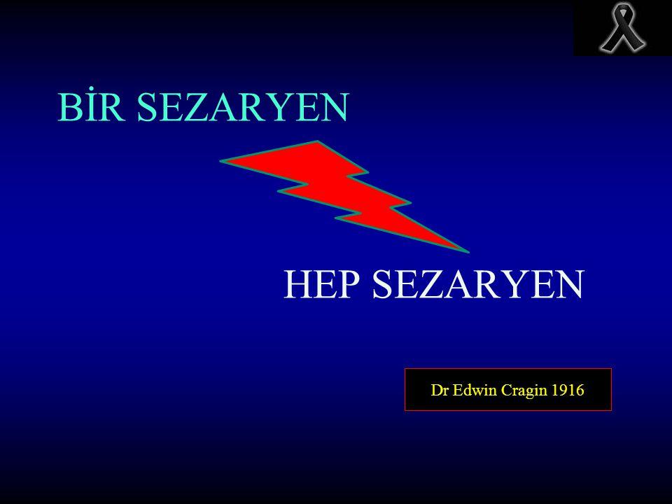 BİR SEZARYEN HEP SEZARYEN Dr Edwin Cragin 1916