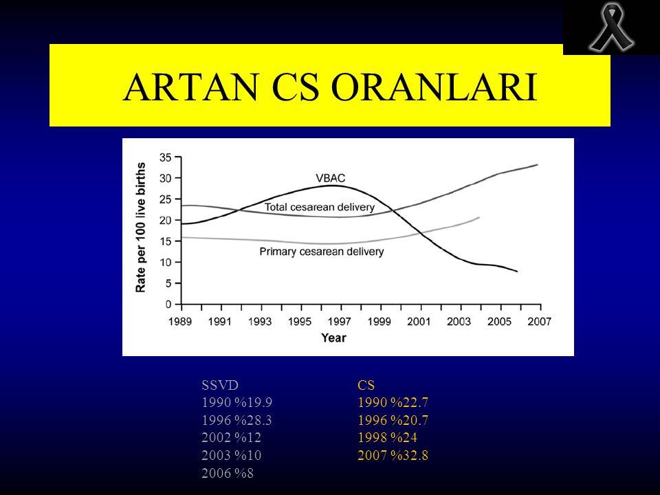 ARTAN CS ORANLARI SSVD 1990 %19.9 1996 %28.3 2002 %12 2003 %10 2006 %8