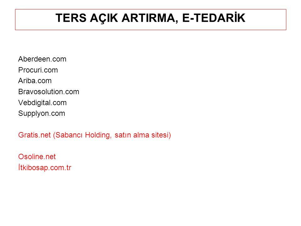 TERS AÇIK ARTIRMA, E-TEDARİK