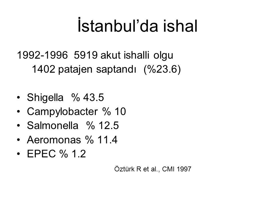 İstanbul'da ishal 1992-1996 5919 akut ishalli olgu