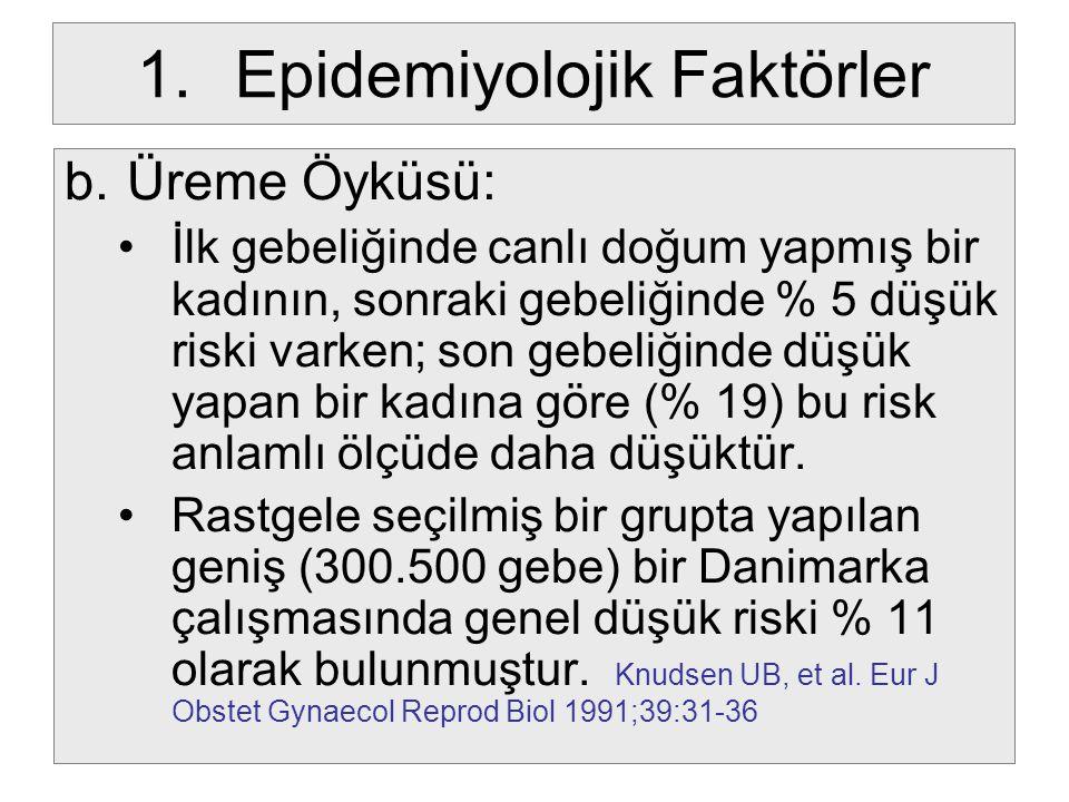 Epidemiyolojik Faktörler