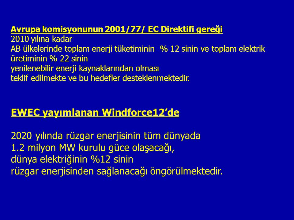 EWEC yayımlanan Windforce12'de