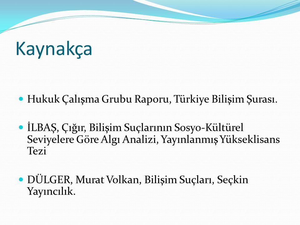 Kaynakça Hukuk Çalışma Grubu Raporu, Türkiye Bilişim Şurası.