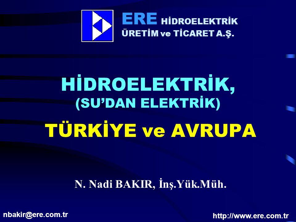 HİDROELEKTRİK, (SU'DAN ELEKTRİK)