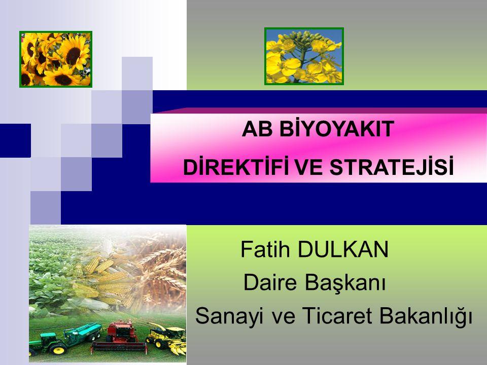Fatih DULKAN Daire Başkanı Sanayi ve Ticaret Bakanlığı