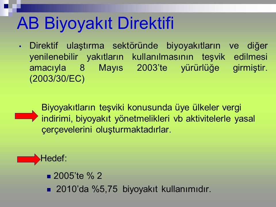 AB Biyoyakıt Direktifi