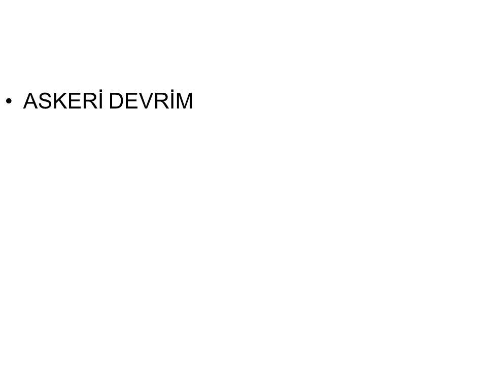 ASKERİ DEVRİM