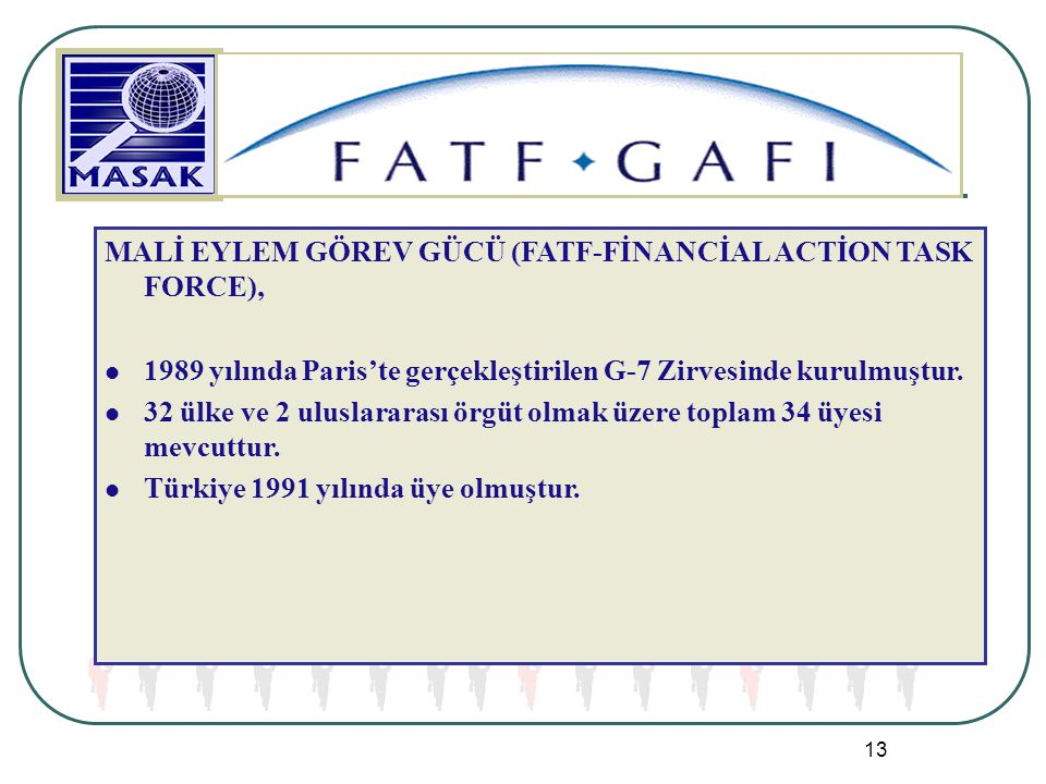 MALİ EYLEM GÖREV GÜCÜ (FATF-FİNANCİAL ACTİON TASK FORCE),