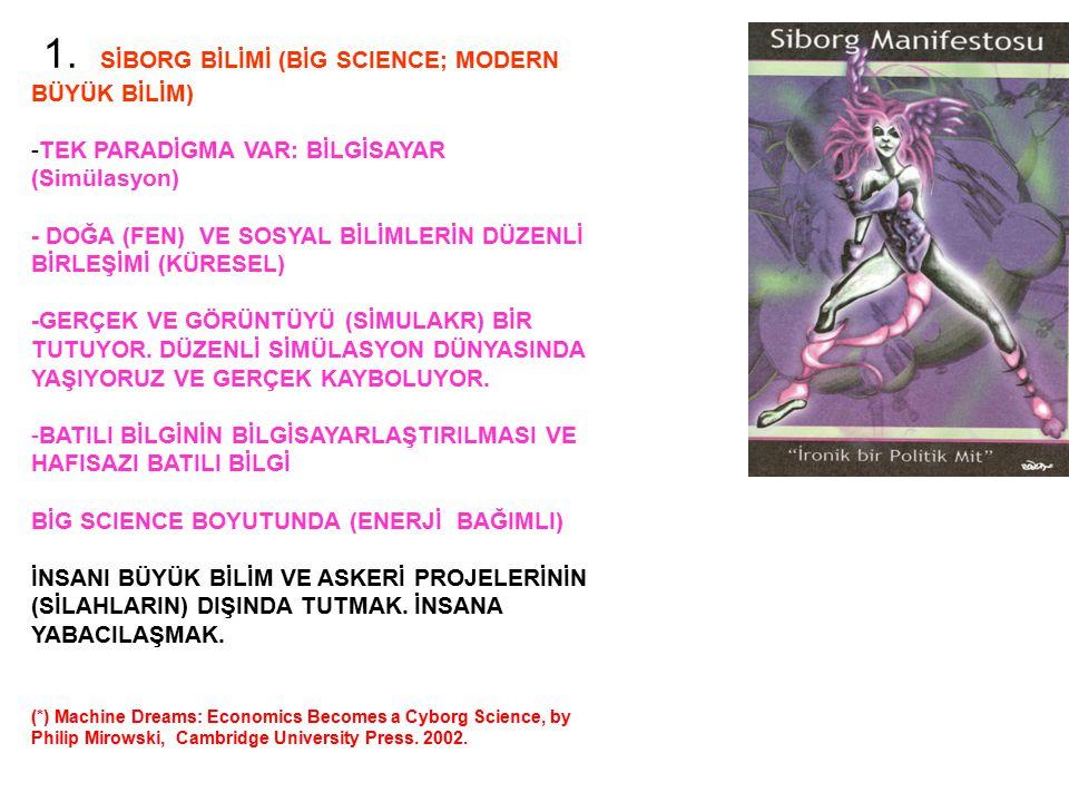 1. SİBORG BİLİMİ (BİG SCIENCE; MODERN BÜYÜK BİLİM)
