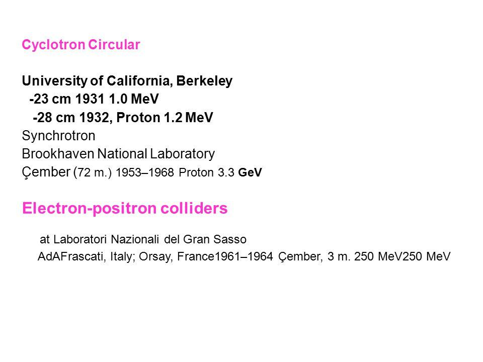 Electron-positron colliders