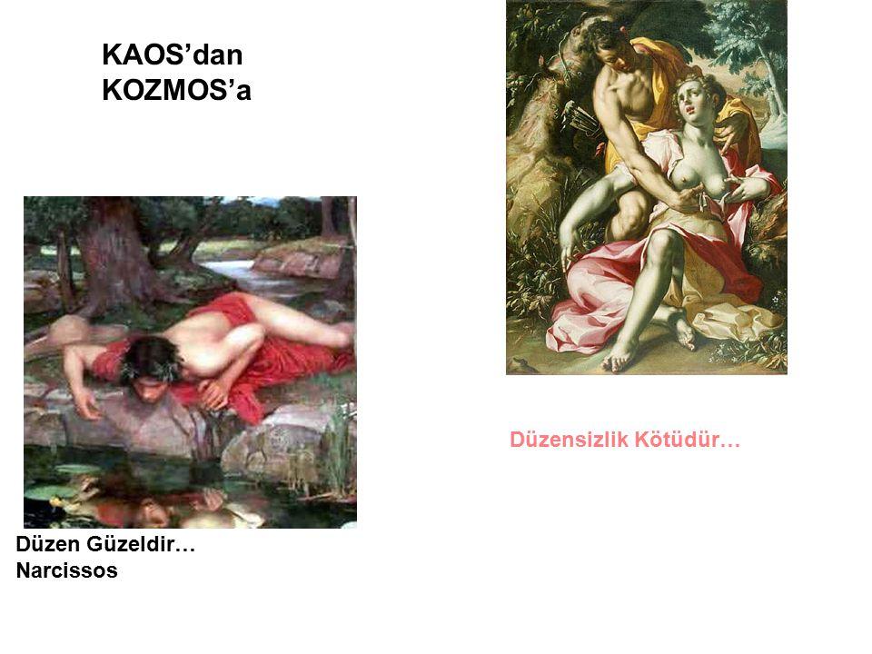 KAOS'dan KOZMOS'a Düzensizlik Kötüdür… Düzen Güzeldir… Narcissos