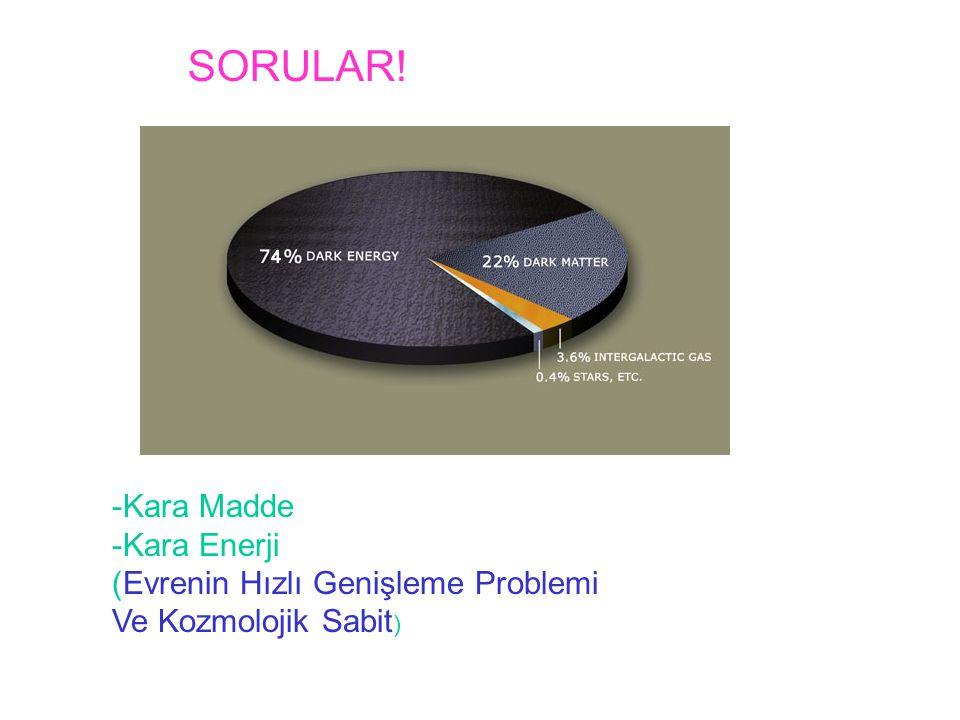 SORULAR! -Kara Madde -Kara Enerji (Evrenin Hızlı Genişleme Problemi